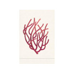 Coral Red/Natural White Linen Guest Towel | Gracious Style