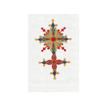 Cross Ruby/White Linen Guest Towel | Gracious Style