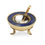 Enchanted Garden Caviar Dish with Spoon