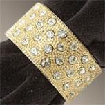L'Objet Napkin Rings Swarovski Crystal | Gracious Style