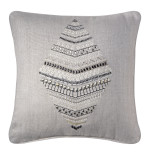 Queenie Pillow 18 x 18 in Platinum