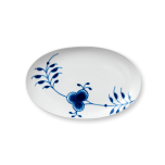 Blue Fluted Mega Oval Accent Dish