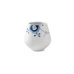 Blue Fluted Mega Vase 4.75 in.