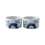 Blue Fluted Mega Souffle 3.5 in.  2pc