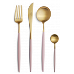 Goa Gold Matte/Pink Handle Flatware