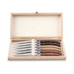 Lou Laguiole Set of 6 Assorted Steak Knives