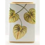 Yellow Leaf Square Vase