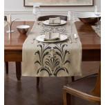 Dwell New York Flora vellum ivory linen damask runners | Gracious Style