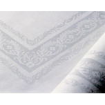 Irish linen Fine Scroll double damask table linens | Gracious Style