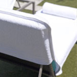 Lounge Chair Covers Terry with Fitted Hood, White | Gracious Style