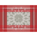 Snowflakes Rouge Green Sweet Stain-Resistant Placemat 22 in.x16 in.