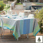 Mille Geometry Lime Damask Table Linens