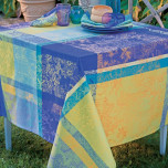 Mille Patios Majorelle Coated Stain-Resistant Table Linens