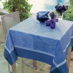 Sunshine Blue Damask Table Linens