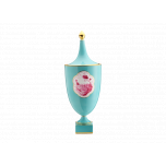 Cartiglio Turchese Impero Vase With Cover 19 In