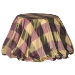 Custom Hampton Burgundy Taffeta Tablecloth | Gracious Style