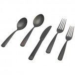 Perugia 5 Piece Place Setting PVD Black Mirror