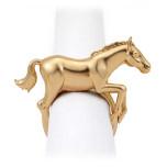Horse Gold Set of 4 Napkin Jewels