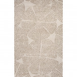 En Casa By Luli Sanchez Tufted Stipple Flower Rainy Day/Simply Taupe Wool Hand Tufted Rug