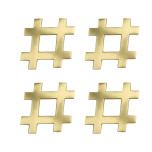 Hashtag Brass Gold Coasters