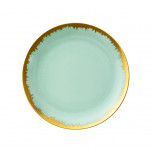 Aura Sea Glass Dinnerware with Gold Brushstrokes