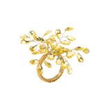 Gemstone Burst Champagne Napkin Rings | Gracious Style