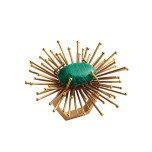 Flare Gold/Emerald Napkin Rings | Gracious Style