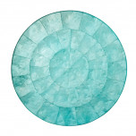 Round Capiz Ocean Placemat   Gracious Style