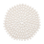 Round Bamboo White Placemat   Gracious Style