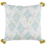Sedona Mineral With Pom Poms Pillow 24 X 24 In | Gracious Style