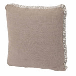 Natural Linen With Natural Florence Tape Gusset Pillow 18 X 18 X 2 In | Gracious Style