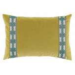 Quince Velvet With Amalfi Glass Tape Lumbar Pillow 13 X 19 In | Gracious Style