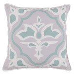 Lagos Surf With White Flange Outdoor Pillow 20 X 20 In | Gracious Style