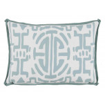 Kyoto Surf With Spa Flange Lumbar Outdoor Pillow 13 X 19 In | Gracious Style