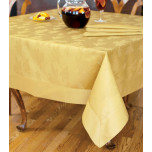 Leaves 63 in x 120 in Rect Tablecloth - Gold | Gracious Style