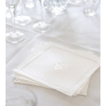Monogrammed Linen Cocktail Napkins | Gracious Style