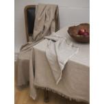 Barra Beige/Fringe Edge Table Linens | Gracious Style