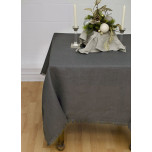 Barra Grey/Fringe Edge Table Linens | Gracious Style