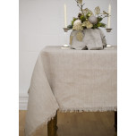 Barra Natural/Fringe Edge Solid Table Linens | Gracious Style
