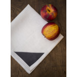 Bermuda White/Grey Corners 20x20 in Napkin | Gracious Style