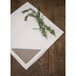 Bermuda White/Natural Corners 20x20 in Napkin | Gracious Style