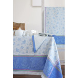 Birds Blue Damask Table Linens | Gracious Style