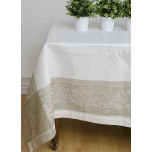 Carmella White/Beige Table Linens | Gracious Style