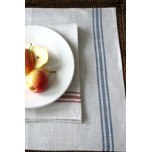 Luke Natural/Blue Table Linens | Gracious Style