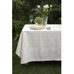 Natalie Cream Damask Table Linens | Gracious Style