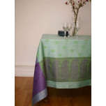 Tango Turquoise/Green/Plum Damask Table Linens | Gracious Style