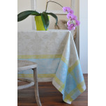 Versailles Silver/Aqua/Green Table Linens | Gracious Style
