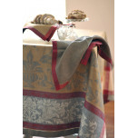 Versailles Smoke Grey/Red Damask Table Linens   Gracious Style