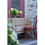 Versailles Taupe/Red Damask Table Linens | Gracious Style