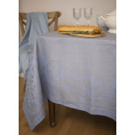 Vienna Blue/Grey Damask Table Linens | Gracious Style